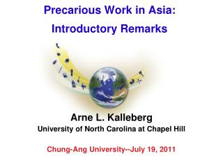 Precarious Work in Asia: Introductory Remarks