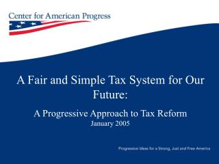 The Center for American Progress Plan: Principles
