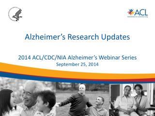 Alzheimer's Research Updates