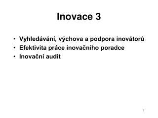 Inovace 3