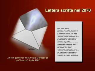 Lettera scritta nel 2070