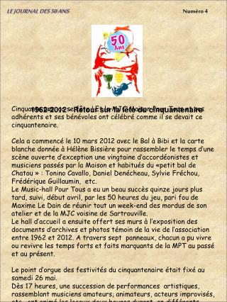 LE JOURNAL DES 50 ANS