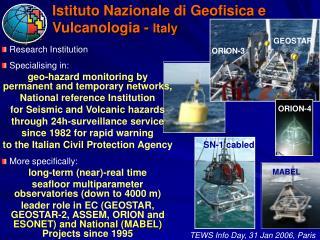 Istituto Nazionale di Geofisica e Vulcanologia -  Italy