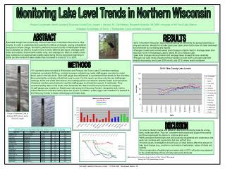 Fluctuation of water levels in 4 lakes in Vilas County Wisconsin during the 2009 monitoring season
