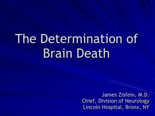The Determination of Brain Death