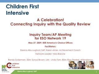 Children First Intensive