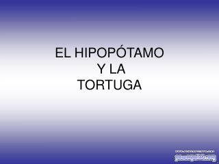 EL HIPOPÓTAMO  Y LA TORTUGA