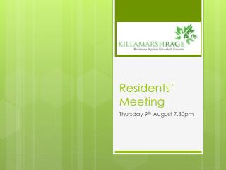 Residents' Meeting