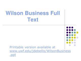 Wilson Business Full Text