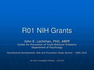 R01 NIH Grants