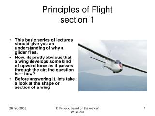 Principles of Flight section 1