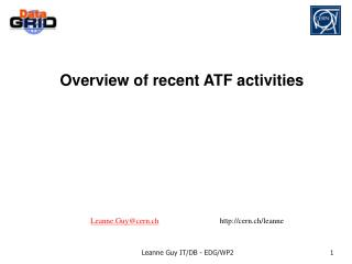 Overview of recent ATF activities