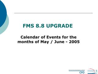 FMS 8.8 UPGRADE