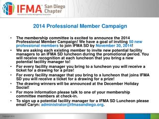 2014 Professional Member Campaign