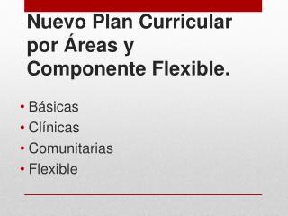 Nuevo Plan Curricular por Áreas y Componente Flexible.