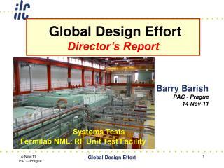 Barry Barish PAC - Prague 14-Nov-11