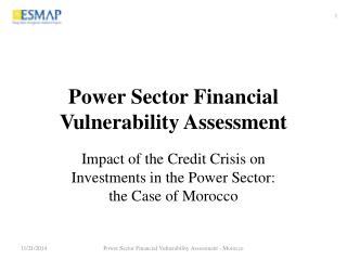 Power Sector Financial Vulnerability Assessment