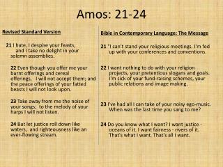 Amos: 21-24