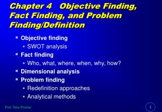 Chapter 4   Objective Finding, Fact Finding, and Problem Finding