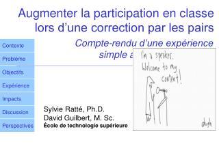 Augmenter la participation en classe lors d'une correction par les pairs
