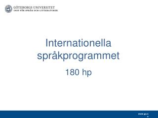 Internationella språkprogrammet 180 hp