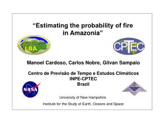 �Estimating the probability of fire  in Amazonia �