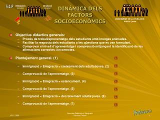 DINÀMICA DELS  FACTORS  SOCIOECONÒMICS