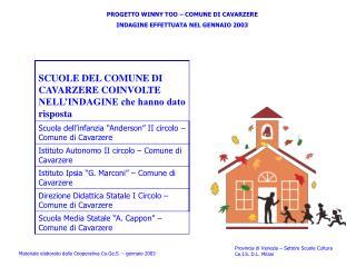 Provincia di Venezia – Settore Scuole Cultura Ce.I.S. D.L. Milani