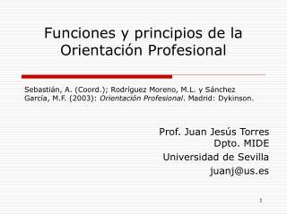 Funciones y principios de la Orientación Profesional