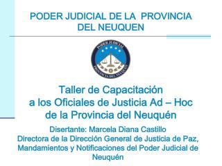 PODER JUDICIAL DE LA  PROVINCIA DEL NEUQUEN