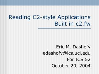 Reading C2-style Applications Built in c2.fw