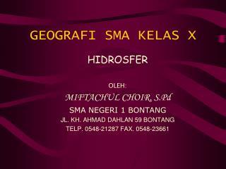 GEOGRAFI SMA KELAS X