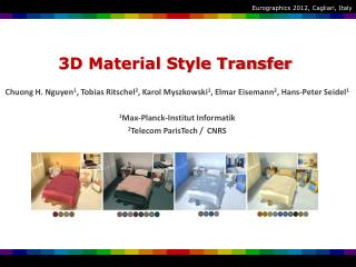 3D Material Style Transfer