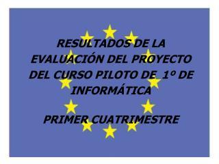 RESULTADOS DE LA EVALUACIÓN DEL PROYECTO DEL CURSO PILOTO DE  1º DE INFORMÁTICA