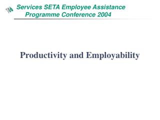 Services SETA Employee Assistance       Programme Conference 2004
