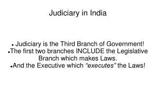 Judiciary in India