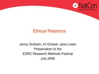 Ethical Relations