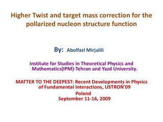 Higher Twist and target mass correction for the pollarized nucleon structure function