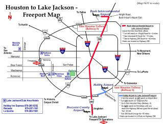 To Lake Jackson/ Freeport/TX Operations