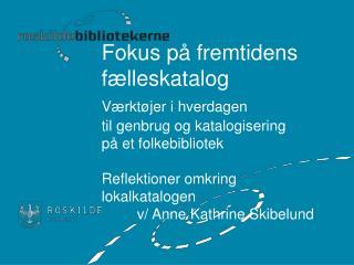 Introduktion Lokalkatalogen Dette bruger / gør vi i Roskilde