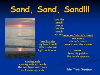 Sand, Sand, Sand