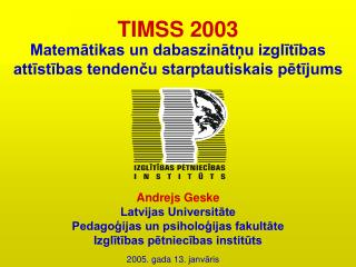 TIMSS 2003
