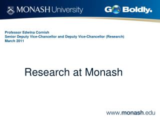 Research at Monash