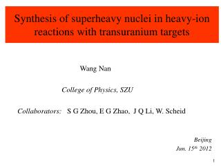 Synthesis of superheavy nuclei in heavy-ion reactions with transuranium targets