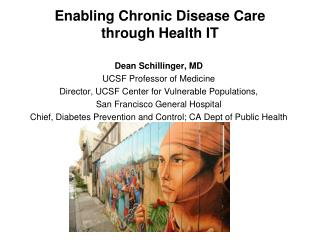 Enabling Chronic Disease Care  through Health IT