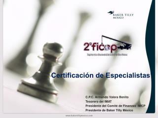"""Certificación de Especialistas"""""""