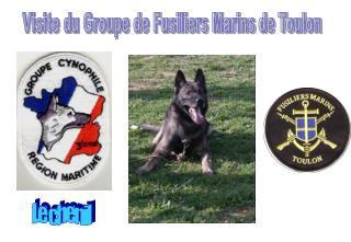 Visite du Groupe de Fusiliers Marins de Toulon
