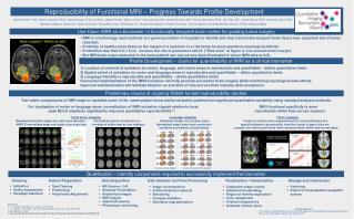 Reproducibility of Functional MRI – Progress Towards Profile Development