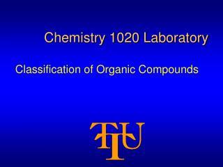 Chemistry 1020 Laboratory