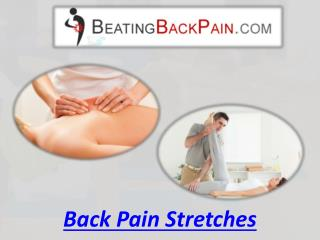 Back Pain Stretches